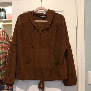 Chocolate Brown Pullover with Hood